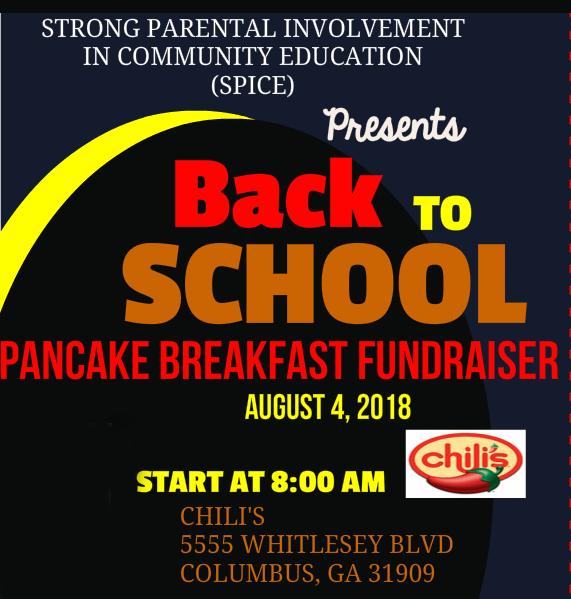 Back to School Pancake Fundraiser